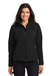 Port Authority - Ladies Textured Soft Shell Jacket. L705