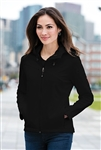 Port Authority - Ladies Textured Hooded Soft Shell Jacket. L706