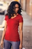 New Era® Ladies Heritage Blend V-Neck Tee. LNEA101