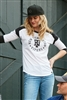 New Era® Ladies Heritage Blend 3/4-Sleeve Baseball Raglan Tee. LNEA104