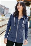 New Era® Ladies Sueded Cotton Full-Zip Hoodie. SAN-LNEA122