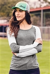 New Era® Ladies Tri-Blend Performance Baseball Tee. LNEA132