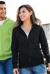 Port & Company - Ladies Core Fleece Full-Zip Hooded Sweatshirt. LPC78ZH