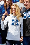 Sport-Tek -  Ladies Sport-Wick® Fleece Colorblock Hooded Pullover. LST235