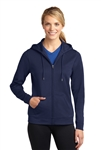 Sport-Tek® - Ladies Sport-Wick® Fleece Full-Zip Hooded Jacket. LST238