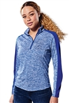 Sport-Tek - PosiCharge® Ladies Electric Heather Colorblock 1/4-Zip Pullover. LST397