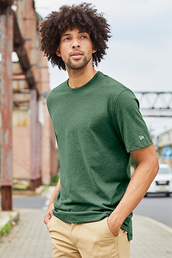 New Era® Sueded Cotton Crew Tee. NEA120