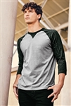 New Era® Sueded Cotton 3/4-Sleeve Baseball Raglan Tee. NEA121