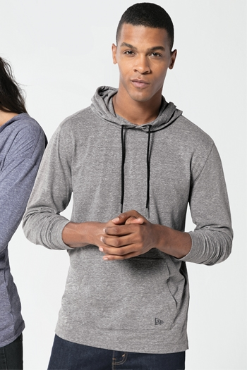 New Era® Tri-Blend Performance Pullover Hoodie Tee. NEA131