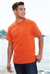 Port & Company - 50/50 Cotton/Poly T-Shirt with Pocket. PC55P