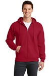 Port & Company - 7.8-oz Full-Zip Hooded Sweatshirt. PC78ZH