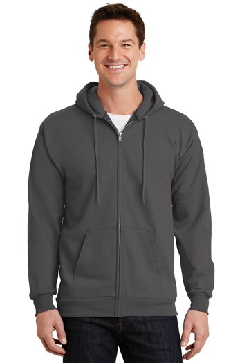 Port & Company - Tall Essential Full-Zip Hooded Sweatshirt. PC90ZHT