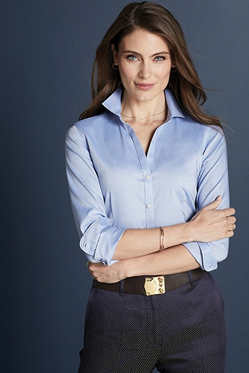 Red House - Ladies Pinpoint Oxford Non-Iron Shirt. RH250