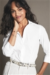 Red House - Ladies 3/4-Sleeve Nailhead Non-Iron Shirt. RH690