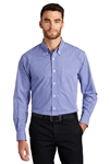 Port Authority - Long Sleeve Gingham Easy Care Shirt. S654
