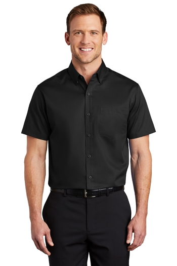 "Port Authority - Short Sleeve SuperProâ""¢ Twill Shirt. S664"