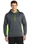 Sport-Tek - Sport-Wick® Fleece Colorblock Hooded Pullover. ST235