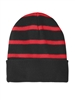 Sport-Tek - Striped Beanie with Solid Band. STC31