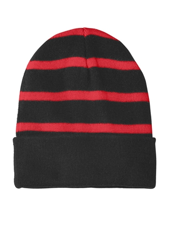 c43c160e4a0 Sport-Tek - Striped Beanie with Solid Band. STC31