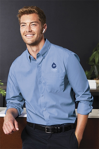 Port Authority - Long Sleeve Carefree Poplin Shirt. W100