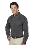 Tri-Mountain -770 Professional Men's Stain-Resistant Long Sleeve Shirt.