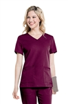 "Urbane - ""Chelsea"" Women's Soft V-neck Scrub Top. 9063"