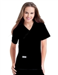Urbane - Woman's Double Pocket Crossover Scrub Top. 9534