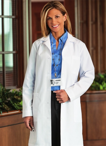 "White Swan META - Women's 5 Pocket 37"" Lab Coat. 161"