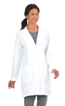 "White Swan META - Women's 35"" Meta Pro Tri-Blend Stretch Lab Coat. 885"