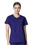 WonderWink - WonderFLEX Patience Curved Notch-Neck Scrub Top. 6208