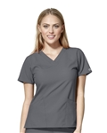 WonderWink - W123 Women's Basic V-neck Scrub Top. 6255