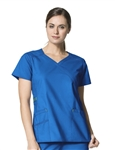 WonderWink - WonderFLEX Charity Fashion Y-Neck Scrub Top. 6308