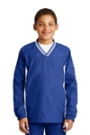 Sport-Tek - Youth Tipped V-Neck Raglan Wind Shirt. YST62