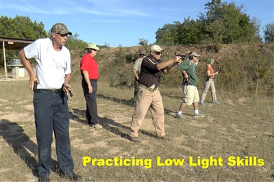 You know how to run your gun during daylight hours, now put your skills to the test during low light. In this class shooters will learn various low light shooting techniques for the pistol.