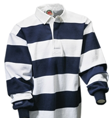 "Barbarian Casual White / Navy 4"" Stripe"