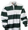 "Barbarian Casual White / Bottle Green 4"" Stripe"