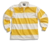 "Barbarian Casual White / Yellow 4"" Stripe"