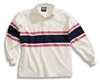 Barbarian Casual White / Pink / Navy Acadia Stripe