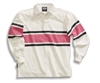 Barbarian Casual White / Coal / Pink Acadia Stripe