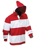 Barbarian Classic White / Red Hoody