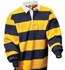 "Barbarian Classic Gold / Navy 4"" Stripe"