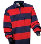 "Barbarian Classic Navy / Dark Red 4"" Stripe"