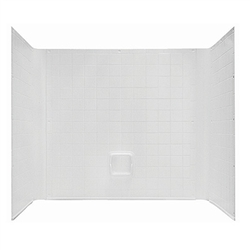 "54"" x 40"" 1 Piece Wall Surround for Garden Tub ABS"