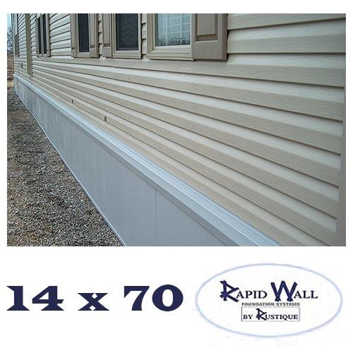 Insulated Mobile Home Skirting 14x70 Rapid Wall Kit