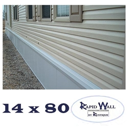 14 x 80 Rapid Wall Complete Mobile Home Insulated Skirting Package