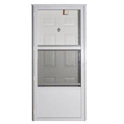 Elixir 9000 Exterior Vinyl Steel Combo Door W Storm Door