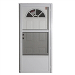 Elixir Series 9000 Vinyl Steel Combo Door -Fan Light