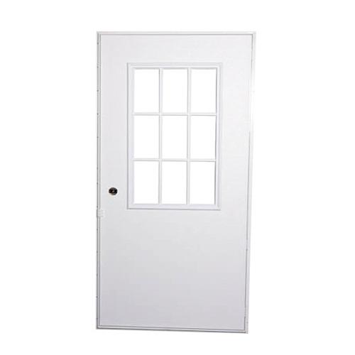 Elixir 200 Series Exterior Out Swing Door White on White Door with Cottage  Window