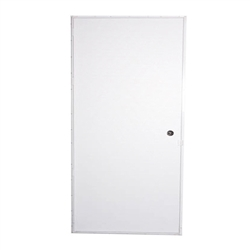 Elixir 200 Series Exterior Out Swing Door White on White Door Blank
