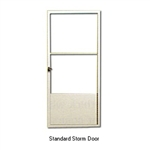 Aluminum Mobile Home White Standard Storm Door